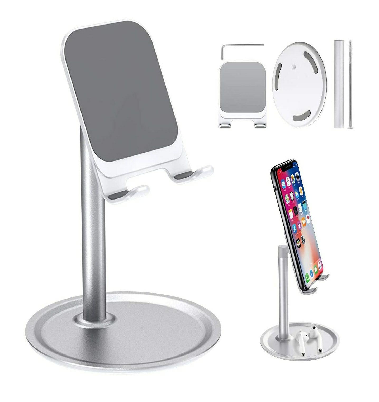 Soporte movil/tablet para mesa plata/negro.
