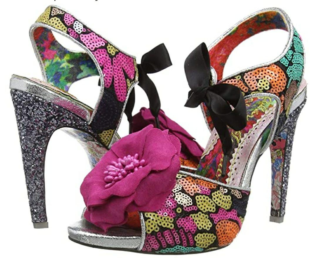 TALLA 37 - Irregular Choice Flower Bee, Zapatos de tacón con Punta Abierta para Mujer