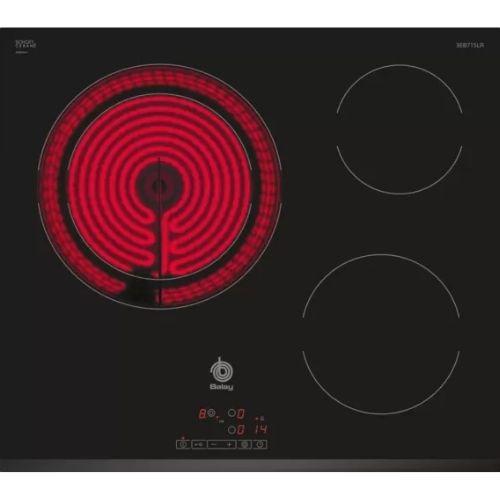 Liquidación de stock en outlet online, Encimera vitrocerámica 60cm de 3 fuegos marca Balay