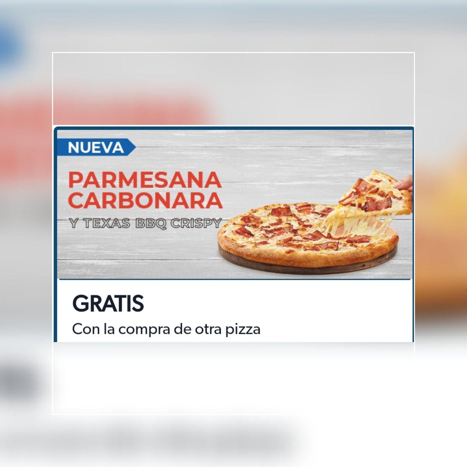 Pizza gratis en Domino's por la compra de otra
