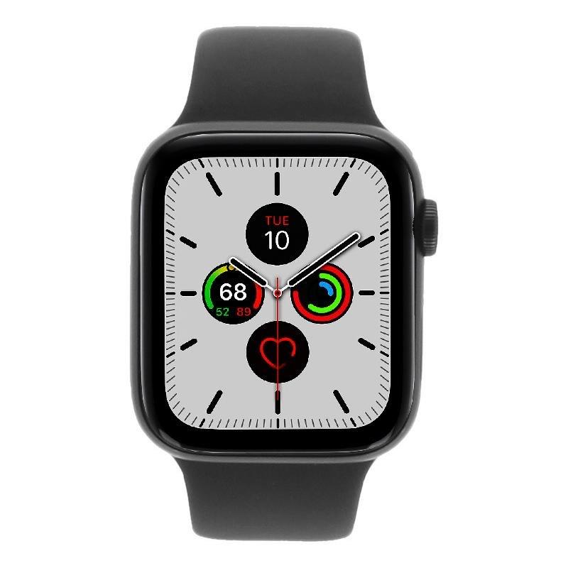 Apple Watch Series 5 - caja de aluminio en gris 44mm - correa sport negra (GPS+Cellular)