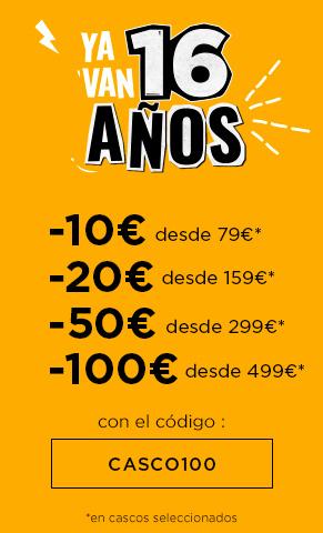- MOTOBLOUZ - Hasta 100 € descuento en cascos por Aniversarrio
