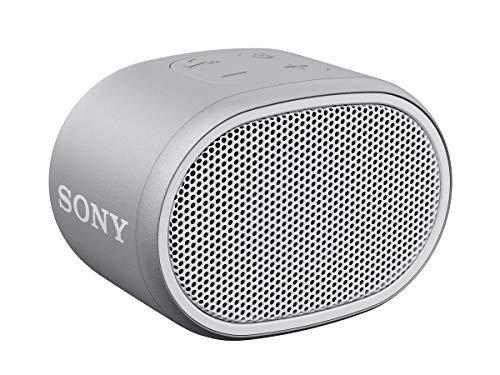 Sony SRSXB01W, Altavoz Portátil (Compacto, Bluetooth, Extra Bass, 6H de Batería, Resistente Al Agua IPX5, Viene con Correa