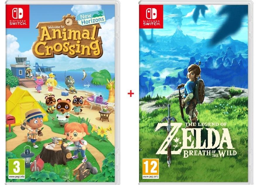 Animal Crossing New Horizons + Zelda Breath Of The Wild (Nintendo Switch)