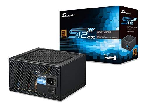 Seasonic S12III 550 - Fuente de alimentación de PC no Modular - 80 Plus Bronce