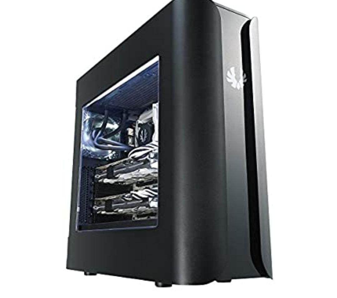 Carcasa de Ordenador Midi-Tower Negro (Acrilonitrilo butadieno estireno, Acero, Negro, ATX,Micro ATX,Mini-ITX, 44 cm)*Mínimo histórico*