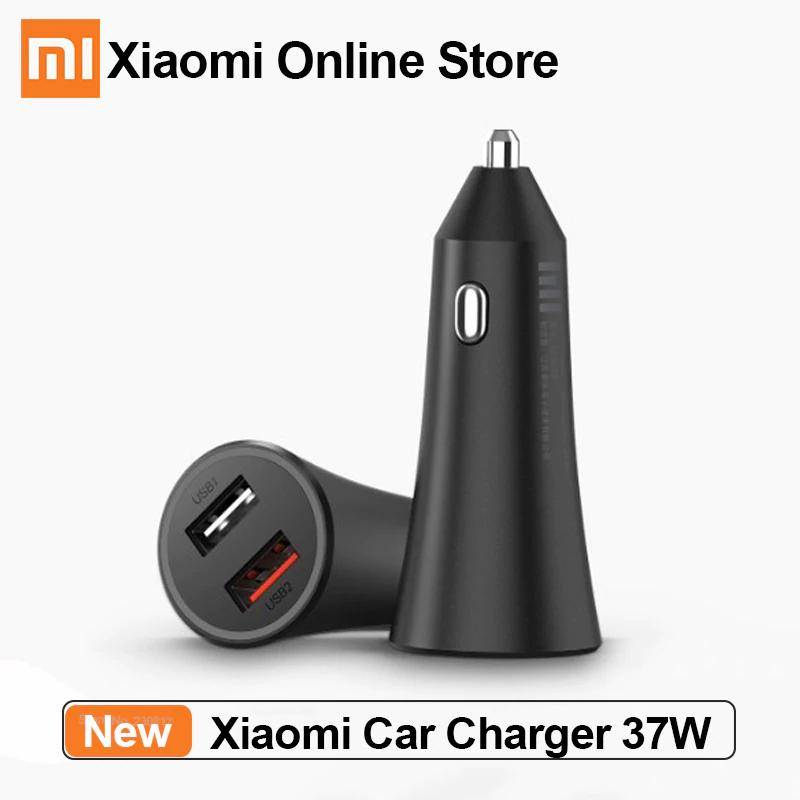 Cargador de coche Xiaomi Original de carga rápida de 37w con doble USB y carga rápida