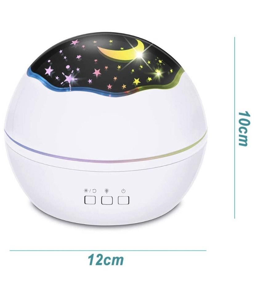 Proyector de luz nocturna 2 en 1 LED estrellado y oceánica, proyector de luz nocturna giratorio de 360