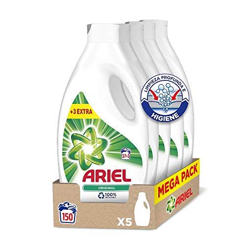Ariel Original - Detergente líquido para la lavadora, 150 lavados (5 x 30)