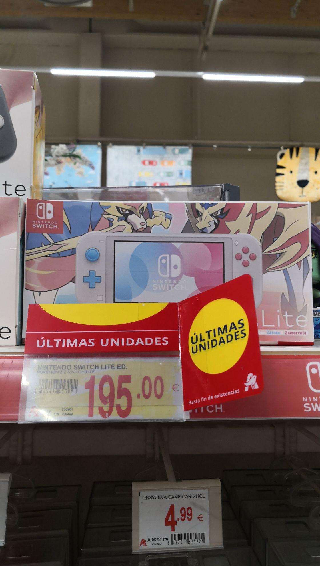 Nintendo Switch Lite edición Pokémon Alcampo Alcorcón