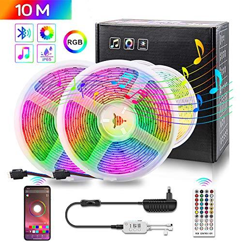 *AMAZON* Tira Led, 10Metros, RGBW, WaterProof, Bluetooth con app móvil, Ritmo Musical (+1 GRATIS, Ver descripción)