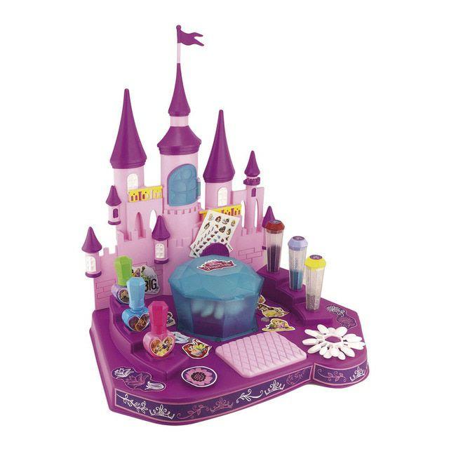 Castillo de manicura encantado princesas