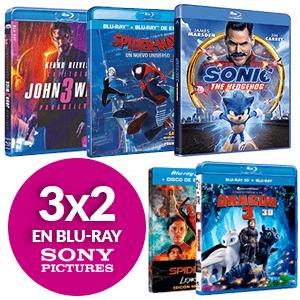 3X2 en Películas Blu Ray Sony