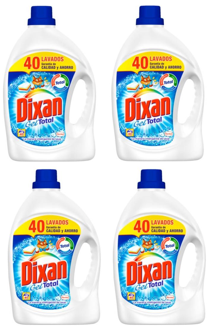 4X Dixan Gel 40 lavados solo 16.9€