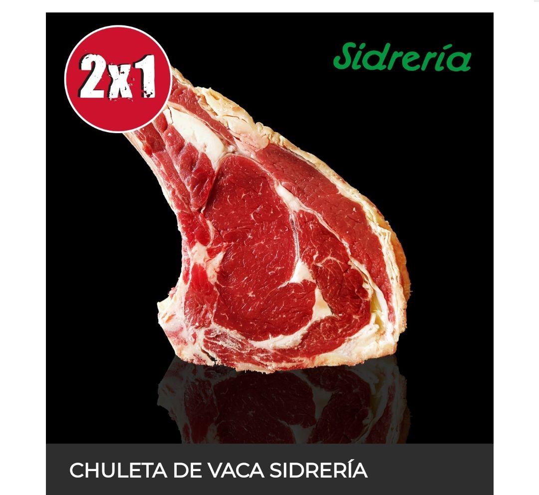 Chuleta de Vaca Sidrería Disfruta de esta oferta a un precio de 2x1.