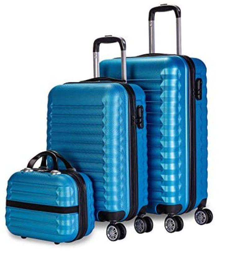 Juego maletas 3 piezas (2 Maletas 1 Neceser) (4 ruedas), ABS, candado