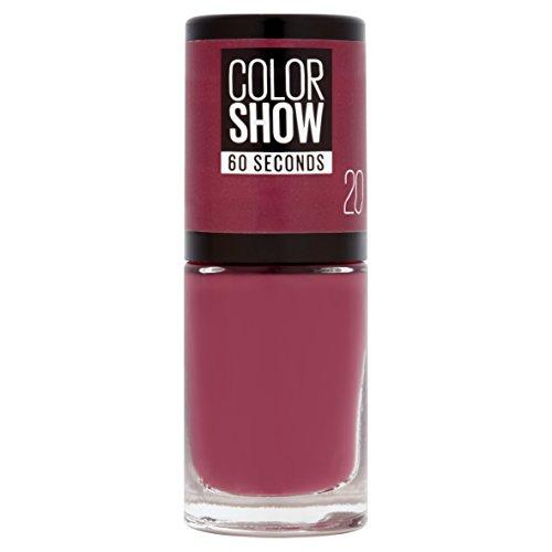 Maybelline New York Color Show, Esmalte Rápido, Blush Berry