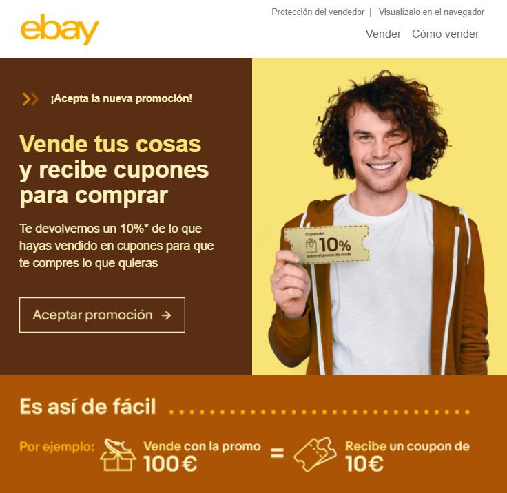 EBAY Vende tus cosas y recibe cupones para comprar