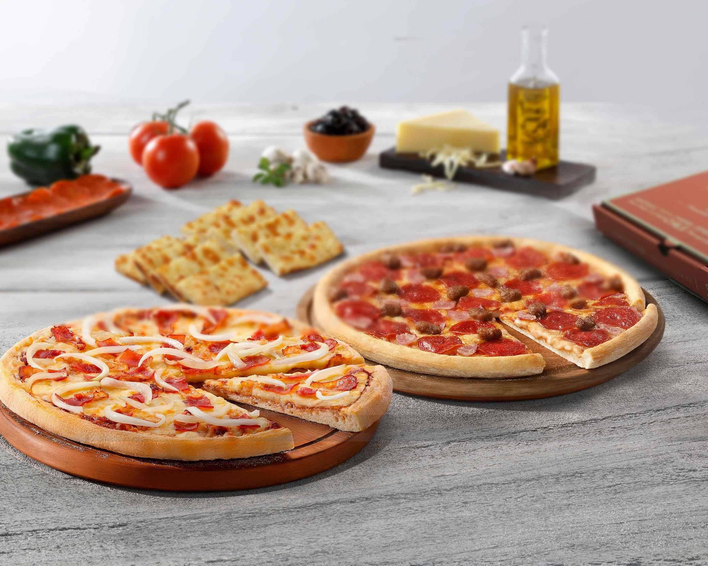 2 pizzas familiares hasta 5 ingr. por 22,95€