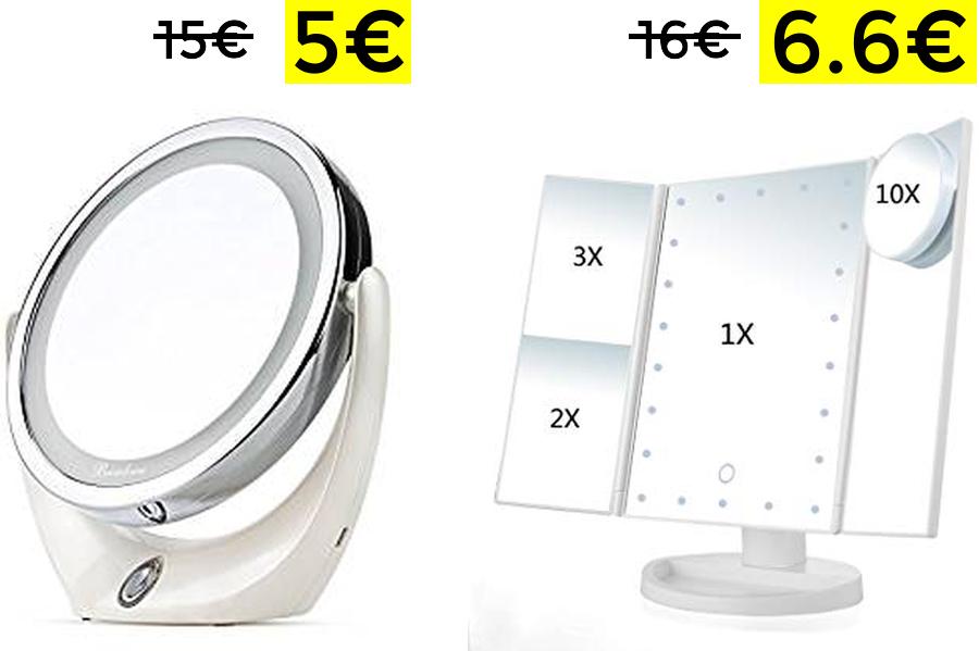 Espejos Maquillaje Led desde 5€