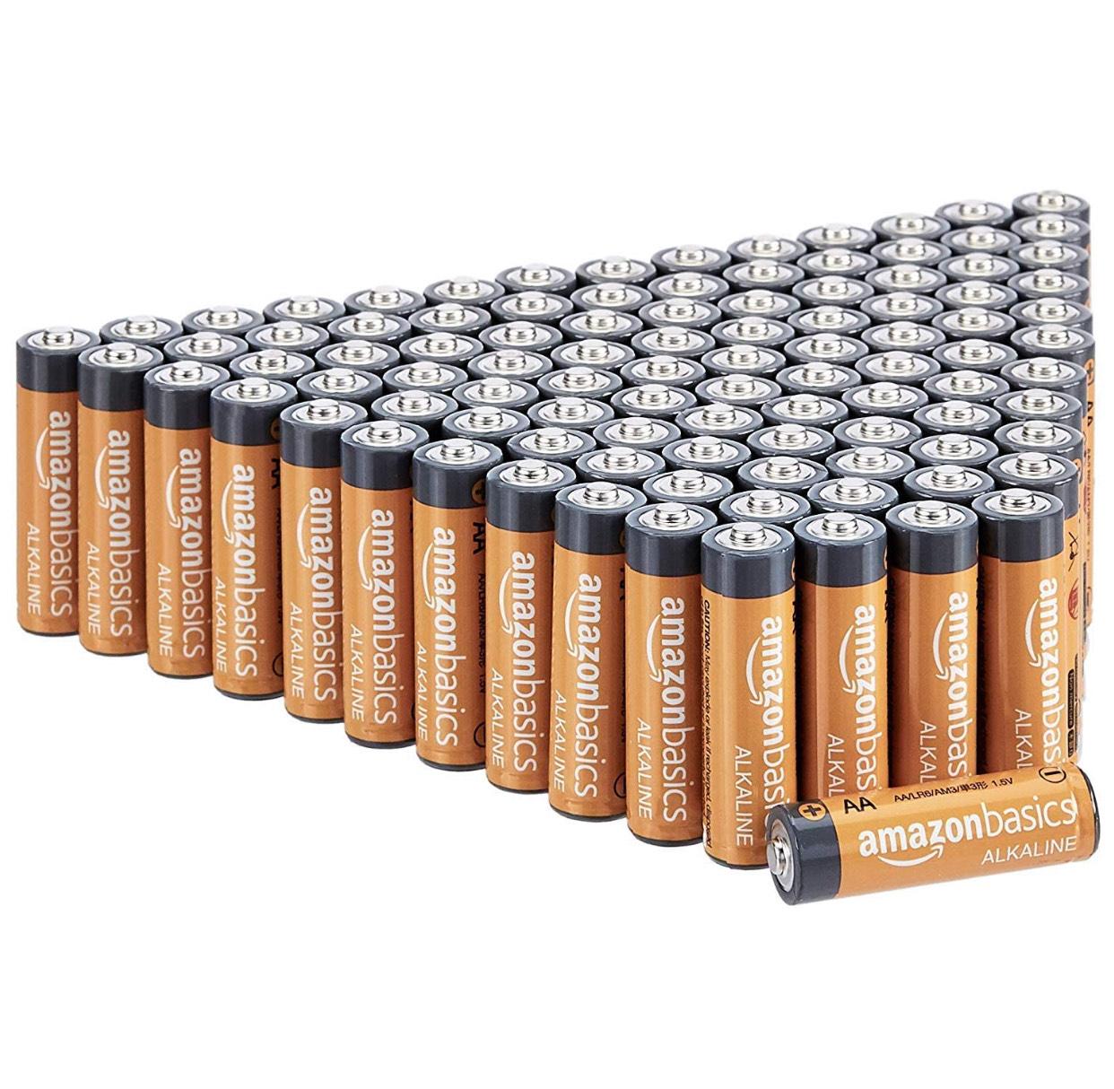100 pilas alcalinas (promo 20% + compra recurrente)