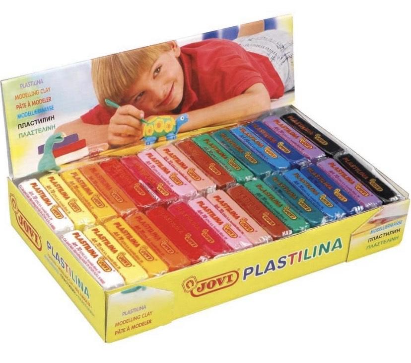 Jovi Plastilina vegetal, un paquete de 30 unidades x 50 gr, multicolor
