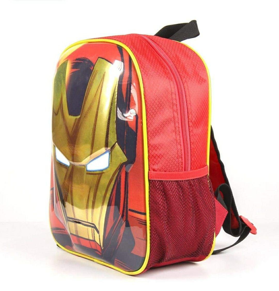 Artesania Cerdá Avengers Iron Man, Equipaje para niños, 31 cm, Rojo