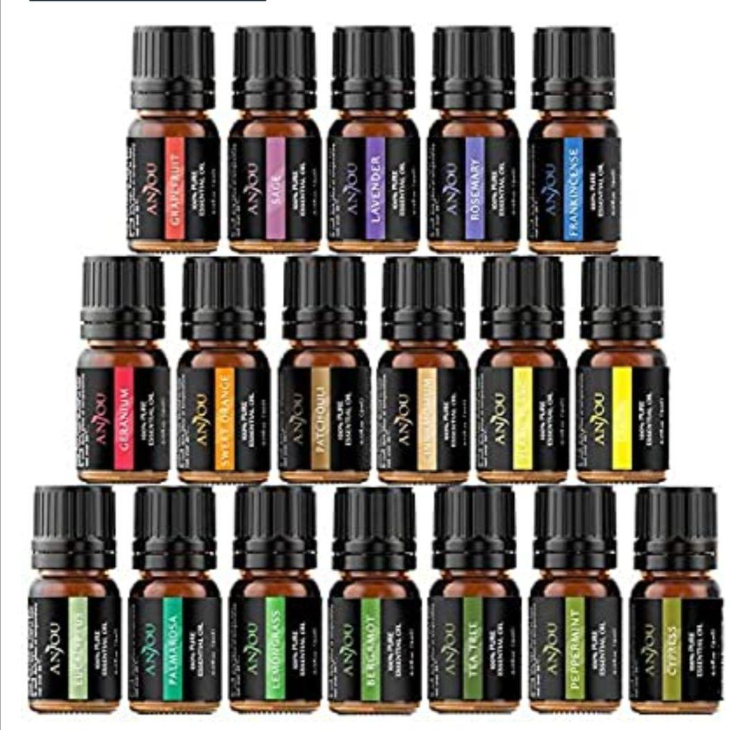 Anjou Aceites Aromaterapia 18, Aceites Esenciales Natural 100%