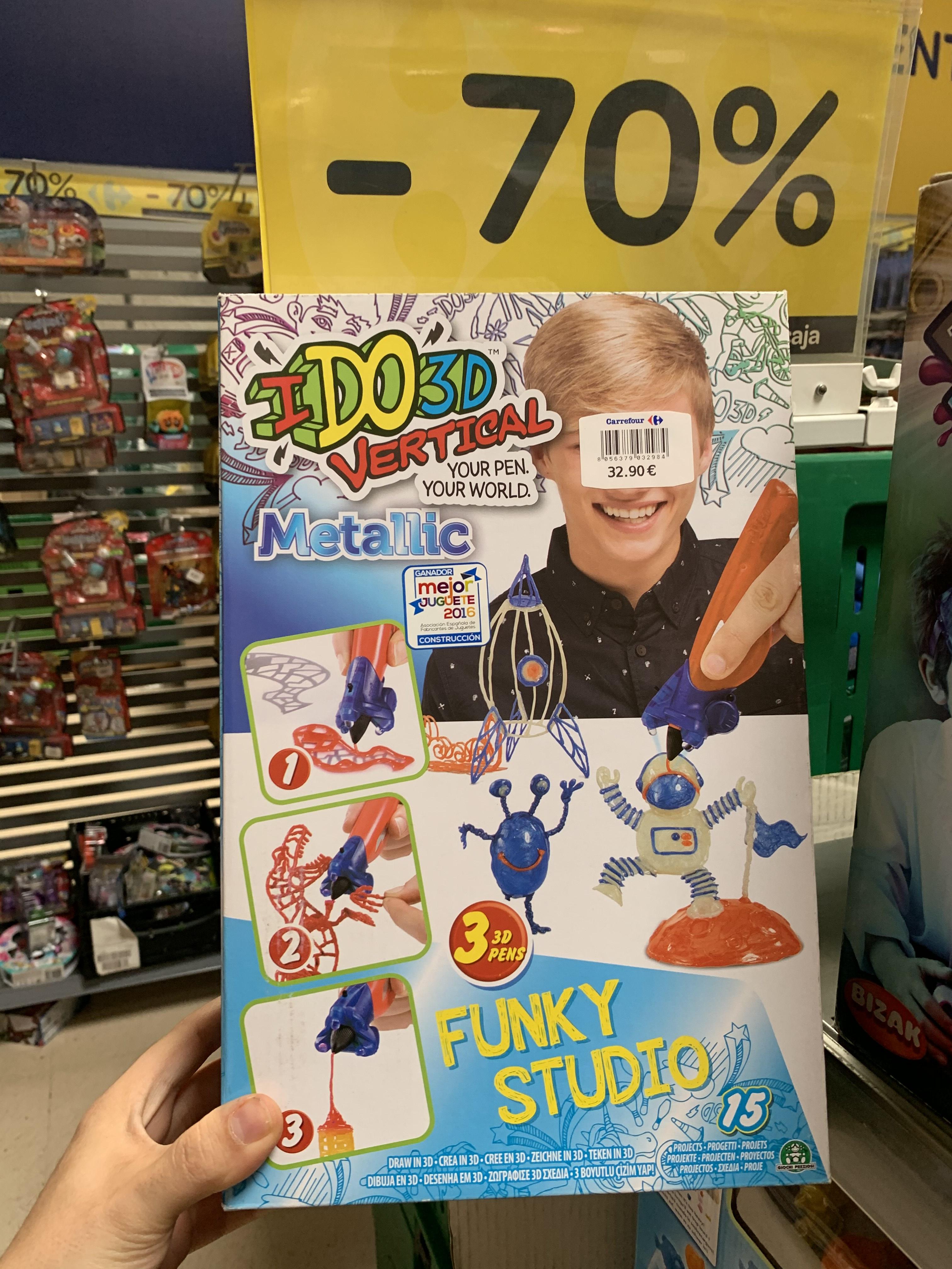 Bolígrafo 3D para niños (Carrefour Murcia)