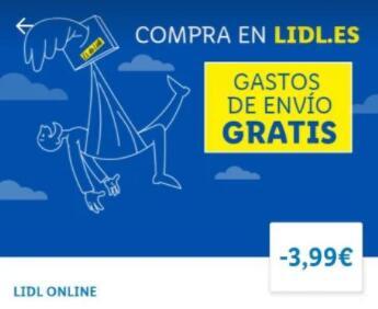 Gastos de Envío gratis Lidl Online a partir de 40€