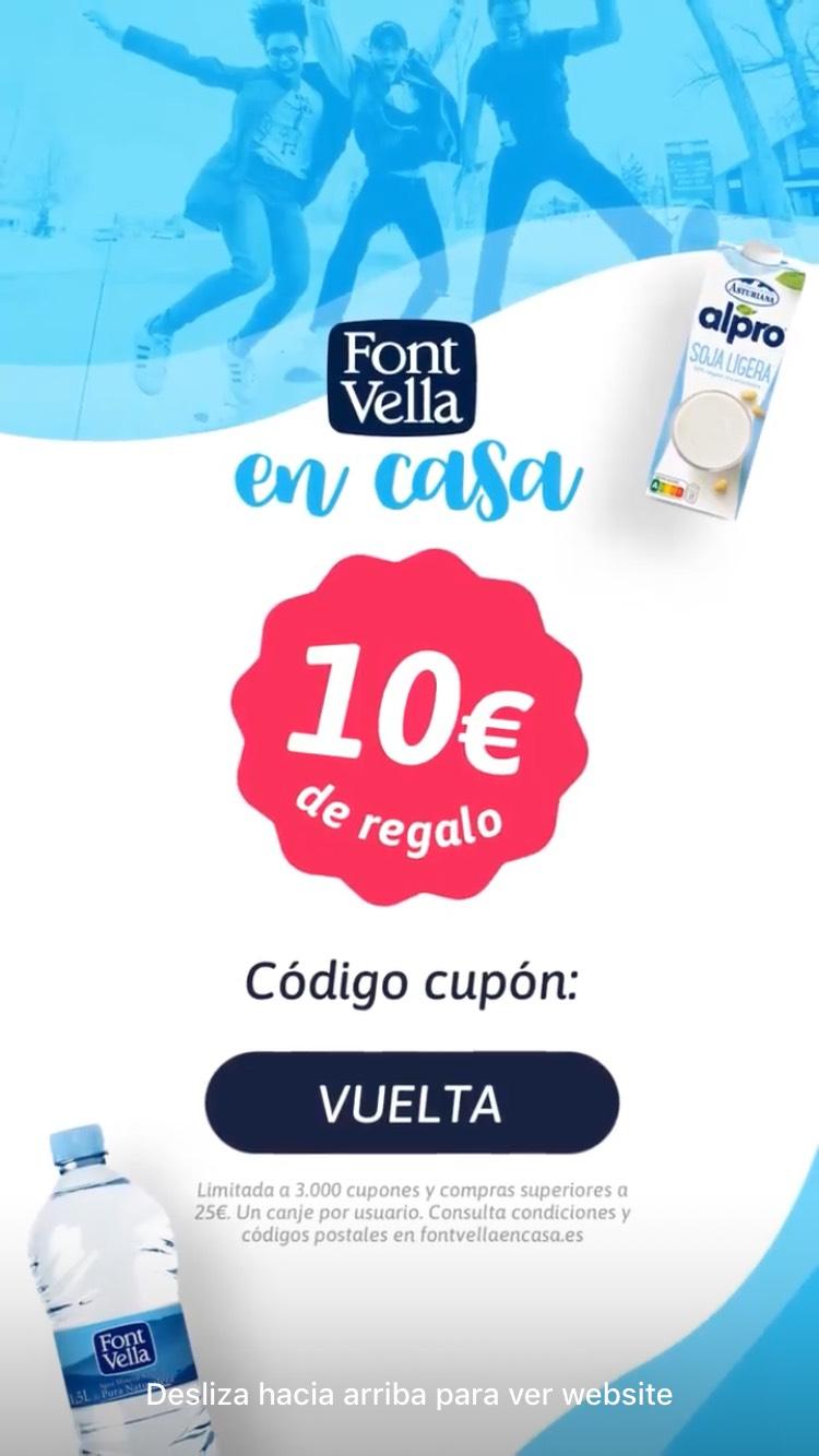 10 euros de descuento por compras superiores a 25€ en Fontvella en Casa.