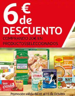 6€ descuento comprando 20€ en productos seleccionados ALCAMPO