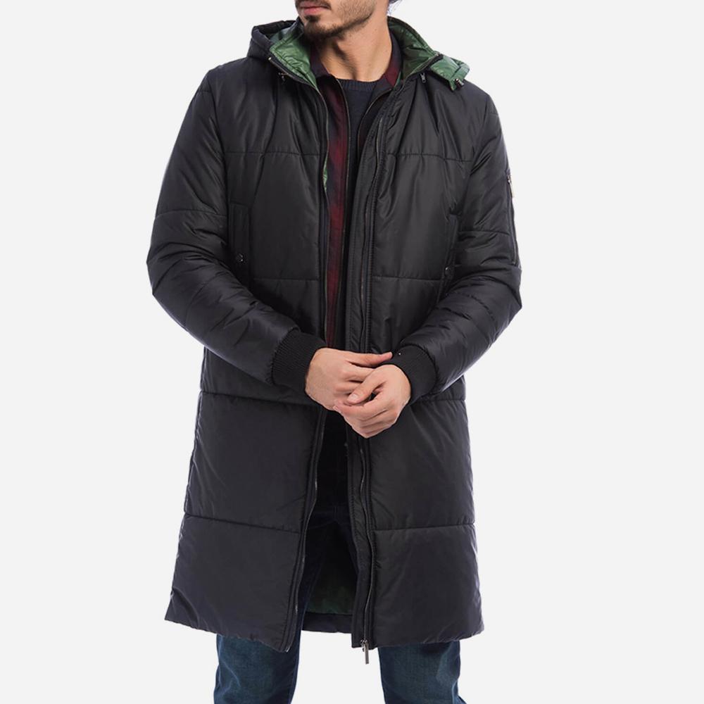 Abrigo largo hombre - azul oscuro