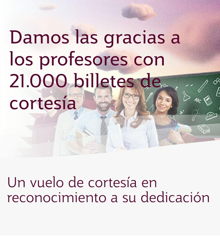 21.000 billetes de cortesía para profesores