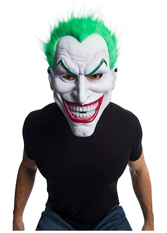 Rubies Máscara Joker PVC con Pelo, Multicolor, Talla unica