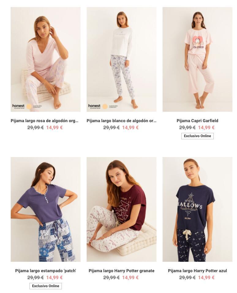 Pijamas largos de Women Secret a 14,99€