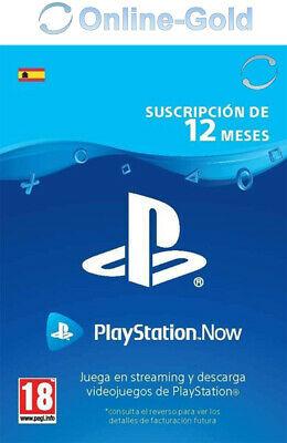 Playstation Now 365 Días 12 meses Sony PS4 Meses Suscripción - España