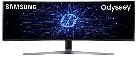 """Monitor Curvo UltraWide Samsung de 49"""" (QLED, 2 x Full HD, 32:9, 144 Hz, 1 ms, HDR, 3000:1, 1800R, FreeSync)"""