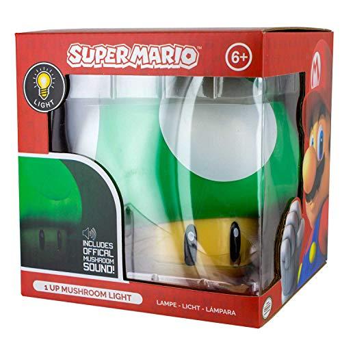Paladone Lámpara de ambiente Super Mario 1 Up Mushroom, Multicolor (producto oficial Nintendo) - Mínimo historico Amazon