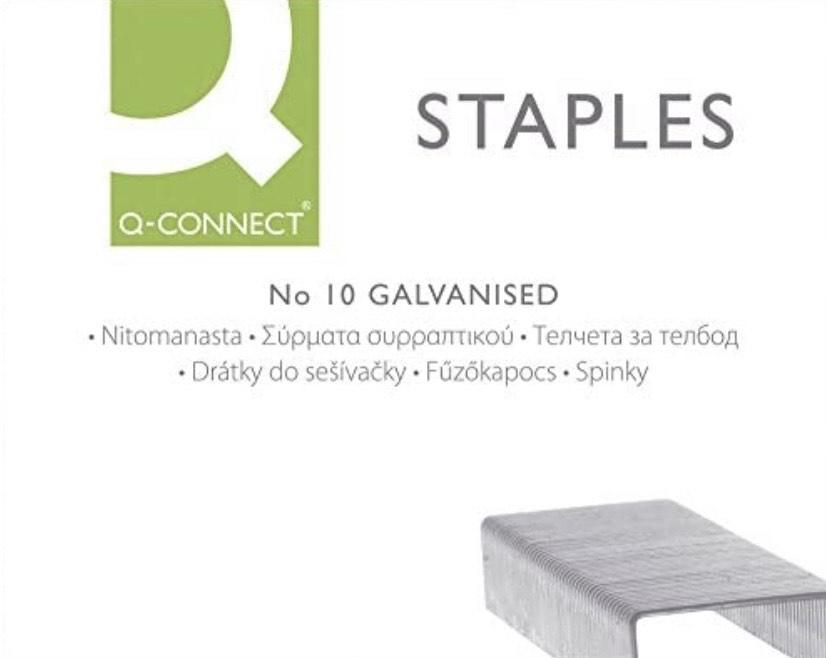 Caja de 1000 grapas galvanizadas n•10