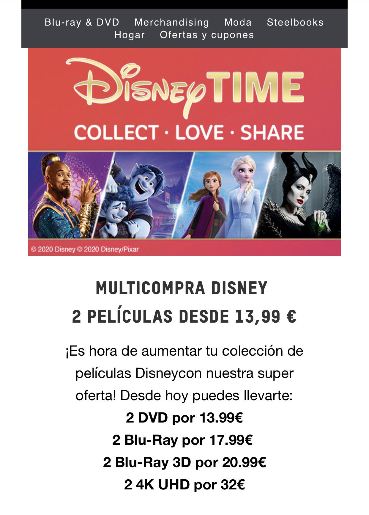 Pelis Disney 2x1