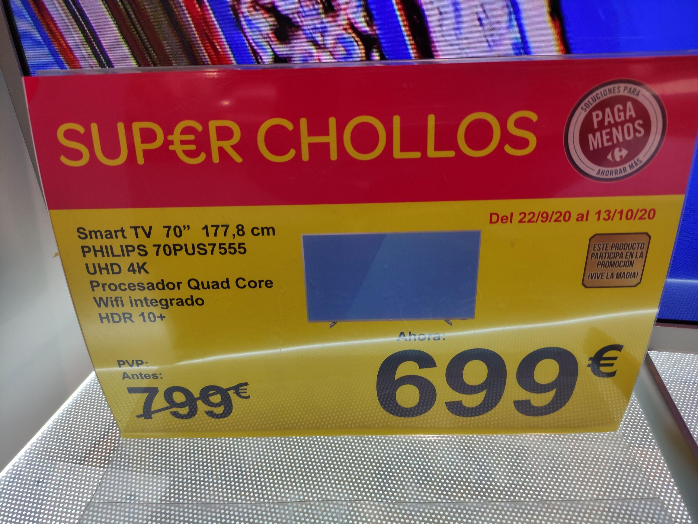 Televisor 4K UHD Philips 70PUS7555/12 carrefour Jaén y Carrefour online