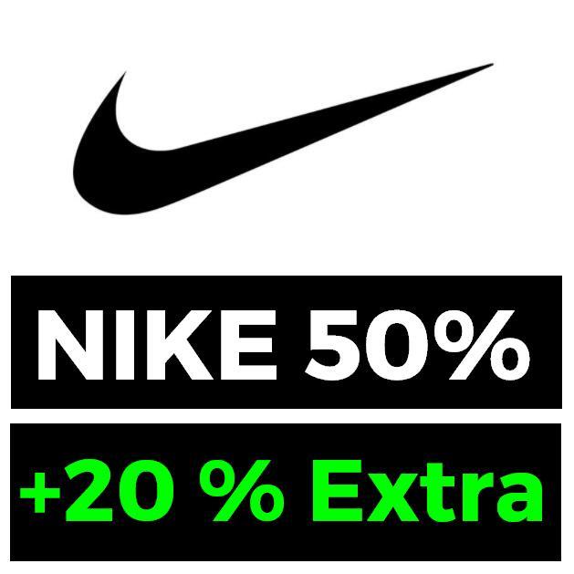 50% + 20% EXTRA en NIKE acumulable