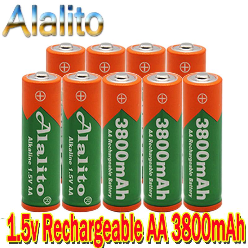 4 Pilas recargables AA LR06 3800mah 1,5v (4p=2,52€, 8p=4,26€, etc)