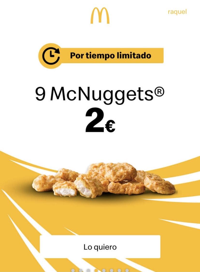 9 nuggets en app por tiempo limitado