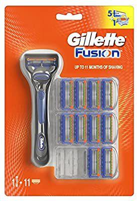 Gillette Fusion Maquinilla de afeitar + 11 cuchillas