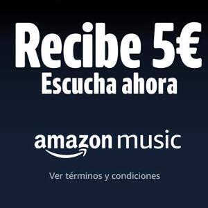 5€ de descuento por escuchar Amazon Music (Cuentas seleccionadas)