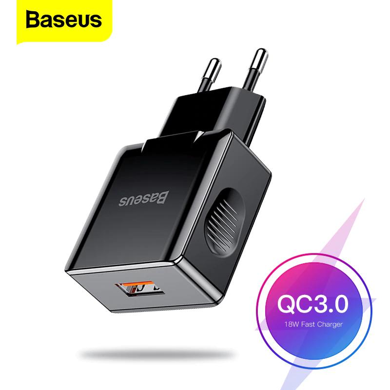 Cargador USB 3,0 de carga rápida Baseus 18W QC3.0