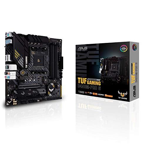 ASUS TUF Gaming B450M-PRO S, Placa Base Gaming Micro ATX AMD B450 (AM4), Doble M.2, 10 etapas de Potencia DrMOS, 2,5 GB LAN, HDMI