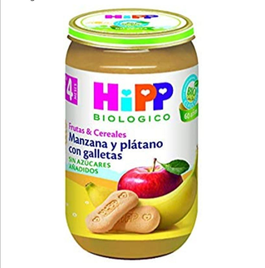HiPP Biológico Tarrito Manzana y Plátano con Galletas - 250 gr